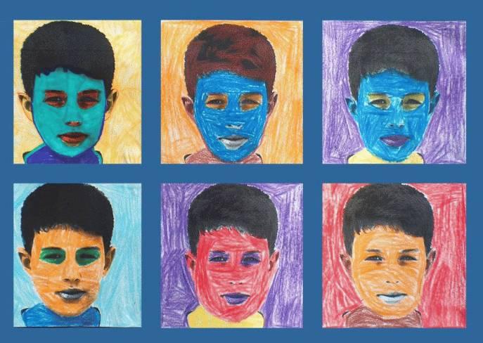 Andy Warhol Selbstbildnisse Mit Farbe Variieren